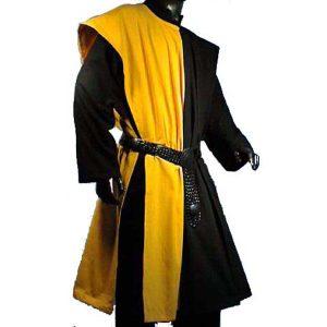 Open Sided Checkerboard Pattern Surcoat