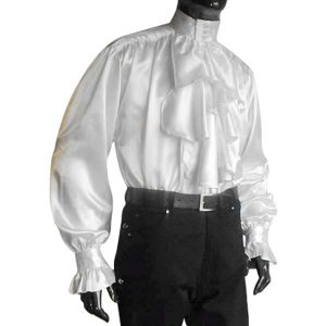 Satin Pastors Shirt – Ideal For LARP, SCA and Costume