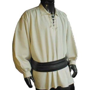 Pirate shirt with collar – Ideal For LARP, SCA and Costume