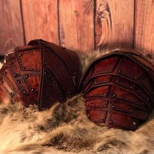 The Bjorn LARP Leather Shoulders