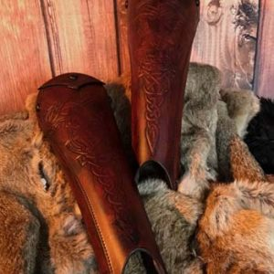 Clan Chief SCA Deluxe Leather Greaves