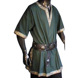 Linen Look Short Sleeved Tunic – Ideal For LARP, SCA and Costume