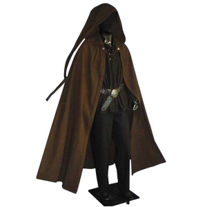 Long Tailed Medieval Cloak – Ideal For LARP, SCA and Costume