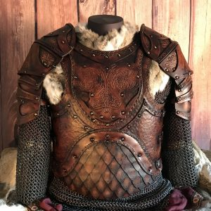 The Odinson Leather Body and Shoulders Larp Leather Armour