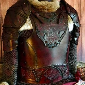 Male Clan Chief SCA Leather Armour Full Set