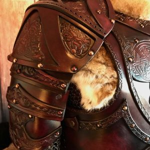 Clan Chief Leather SCA Shoulders
