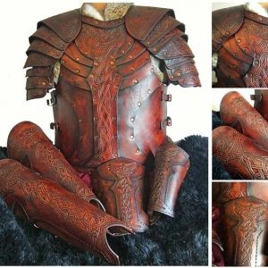 Vendel Raven Full Set Leather LARP Armour